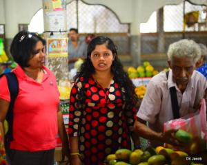 Bhairavi was helping is with the bargaining and taking us to her regular suppliers.