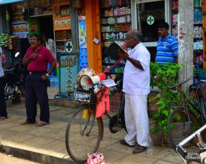 And the bold Evangelist, in the midst of all HIndu's, he was courageous to fix a mic and speaker to his little bicycle and share the good news, I was touched.