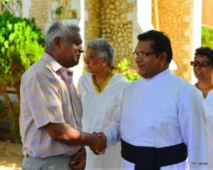 Fr Jayan with Dad