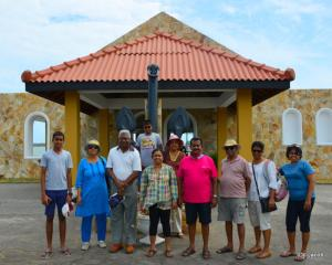 The group at the entrance to the Fort Hammenhiel resort