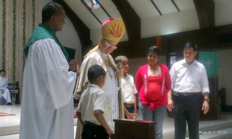 At church